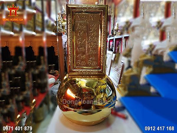 Bài Vị Phật Bằng Đồng Mạ Vàng 24K 48.5Cm