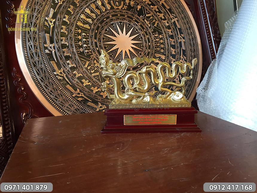 Quà tặng tượng Rồng thời Lý 23cm