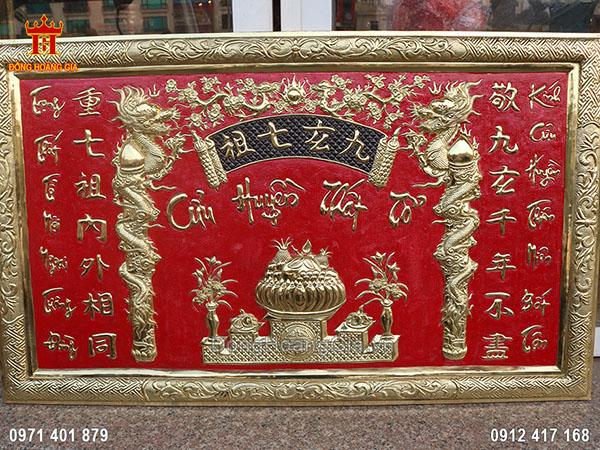 Tấm bảng Cửu Huyền Thất Tổ đẹp