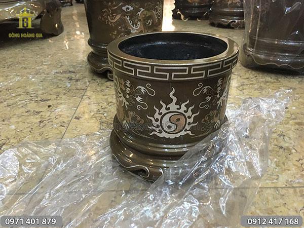 Bát hương đồng tam khí 20cm