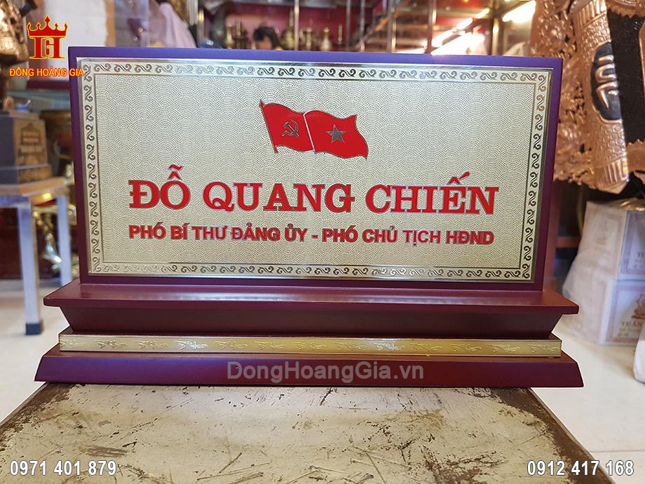 Biển Chức Danh Để Bàn Bằng Đồng
