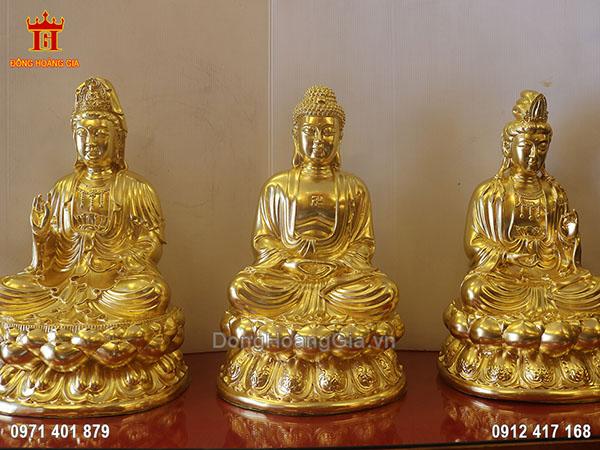 Bộ Tam Thế Phật ngồi đẹp