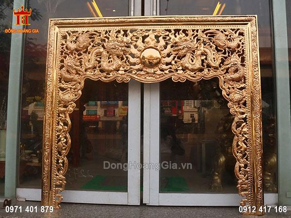Bức cửa võng bằng đồng tinh khiết đẹp