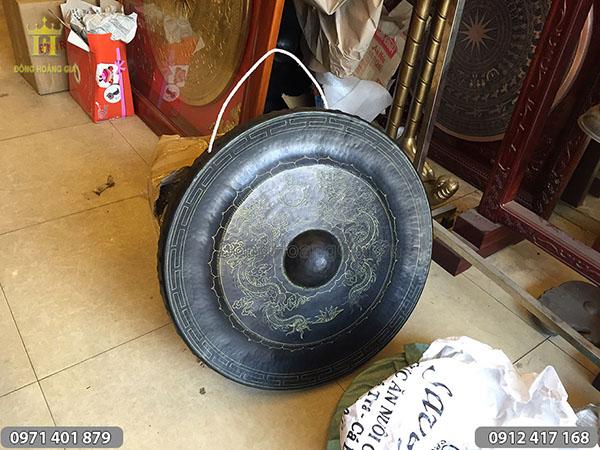 Chiêng đồng ám hoa văn rồng 11kg