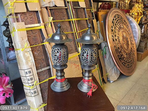 Đèn điện màu hun mẫu quả dứa cao 42cm
