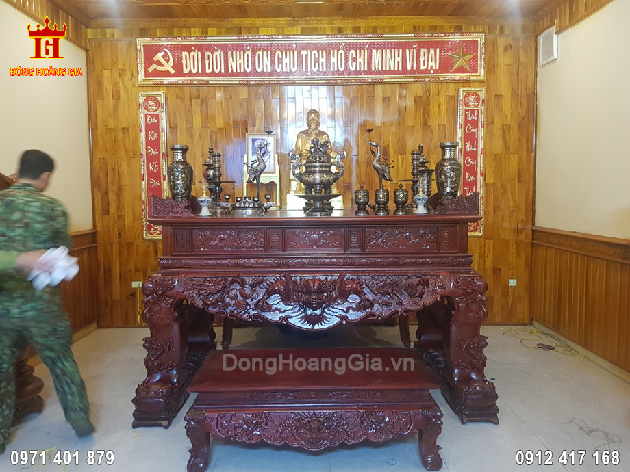 Lắp Đặt Phòng Thờ Tại Lữ Đoàn 72 Huyện Lương Sơn Tỉnh Hòa Bình