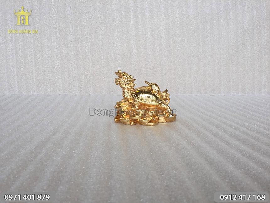 Long Quy cõng con bằng đồng mạ vàng 24K
