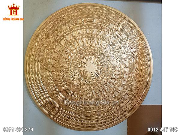 Mặt Trống Đồng Dát Vàng 9999 60Cm
