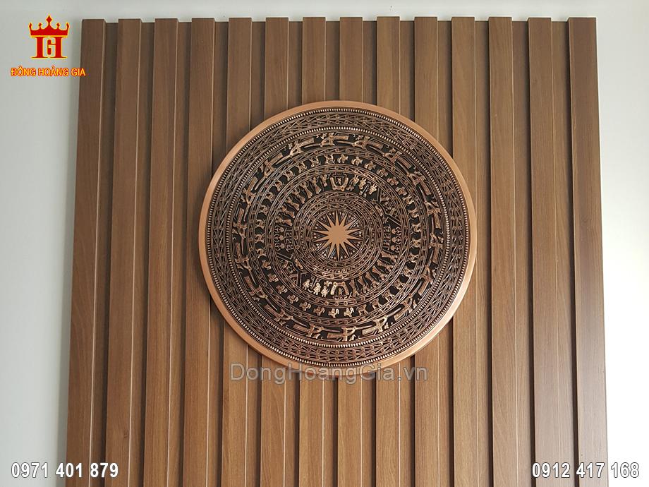 Mặt Trống Đồng Đỏ Lắp Cho Khách Hàng Tại Hà Đông 60Cm