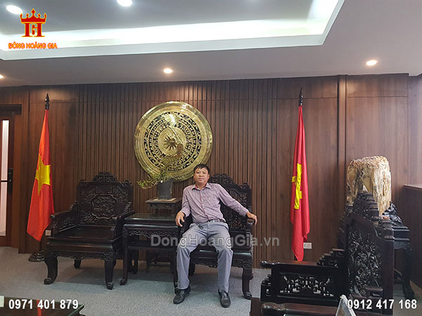 Mặt trống đồng hình bản đồ Việt Nam 1m27