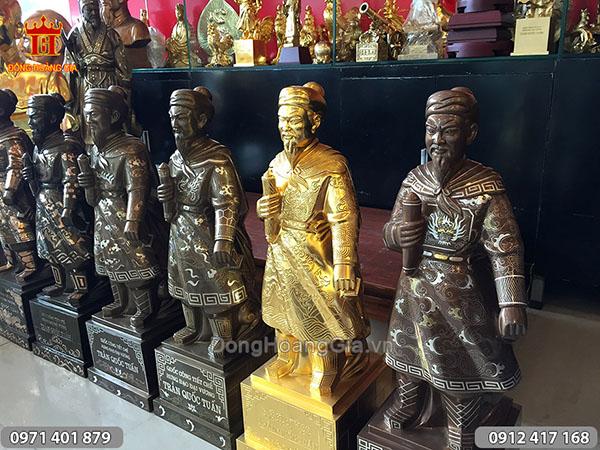 Hình ảnh một số mẫu tượng Trần Quốc Tuấn 70cm
