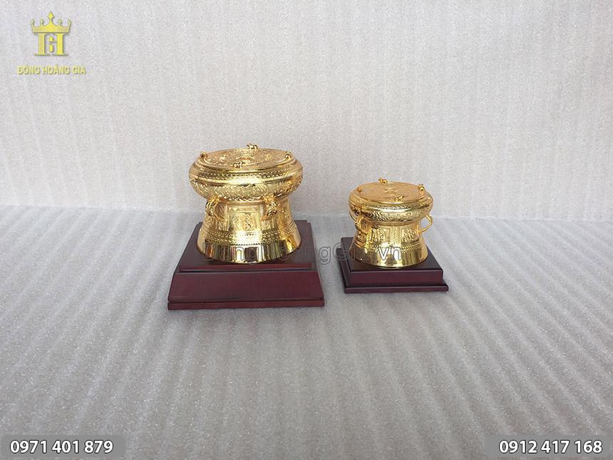Quà tặng Trống Đồng Mạ Vàng 24K