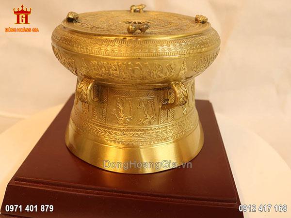 Quả trống bằng đồng vàng cao cấp