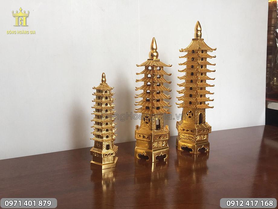 Tháp Văn Xương thiếp vàng 7 tầng, 9 tầng