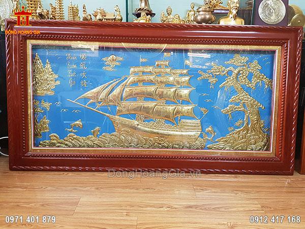 Tranh đồng Thuận Buồm Xuôi Gió 1m55 Đẹp