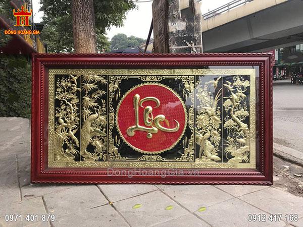 Tranh Đồng Tứ Quý Chữ Lộc 2M