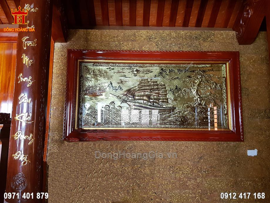 Tranh Thuận Buồm Xuôi Gió Đồng Vàng Xước Giả Cổ 2M3