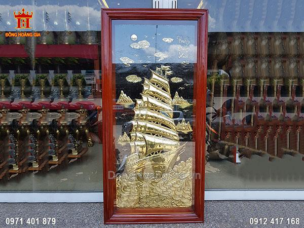 Tranh Thuận Buồm Xuôi Gió Khổ Đứng Đồng Vàng 1M15