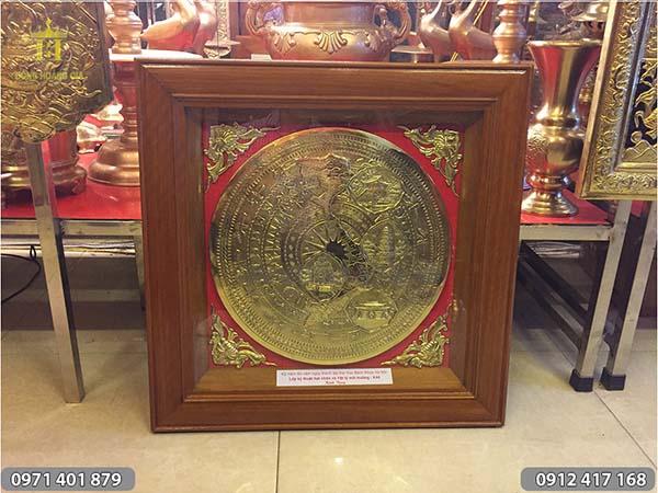 Trống đồng bản đồ Việt Nam quà tặng 60cm x 60cm