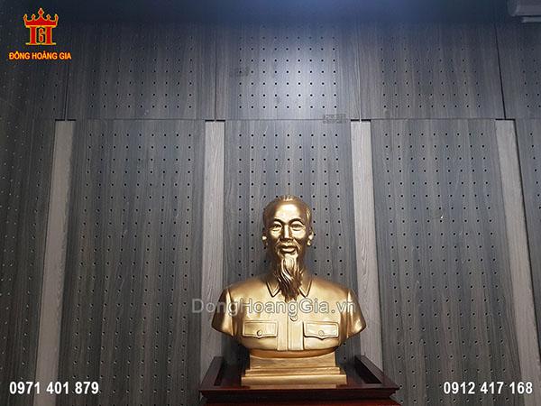 Tượng Bác Hồ Đồng Đỏ 70Cm