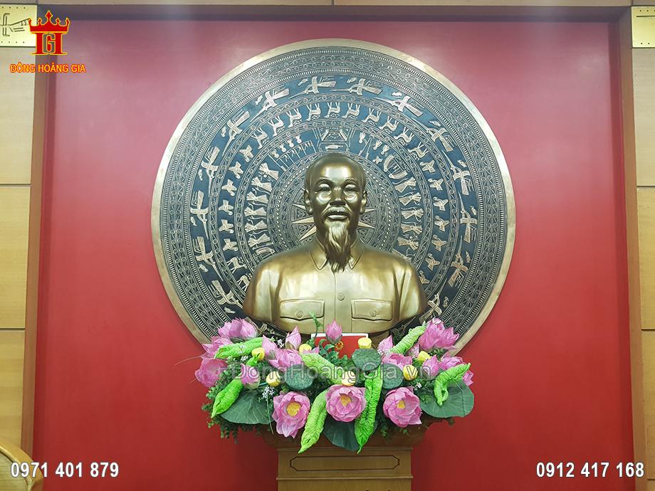 Tượng Đồng Bác Hồ Bán Thân 70Cm