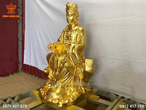Tượng đồng Địa Mẫu cao 1m07 dát vàng 9999