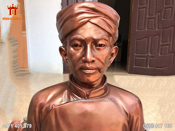 Tượng Đồng Đỏ Nguyễn Trung Trực 80Cm