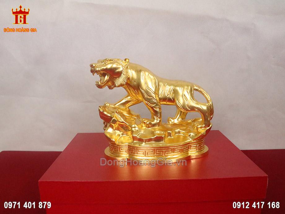 Tượng đồng hổ phong thủy dát vàng 9999
