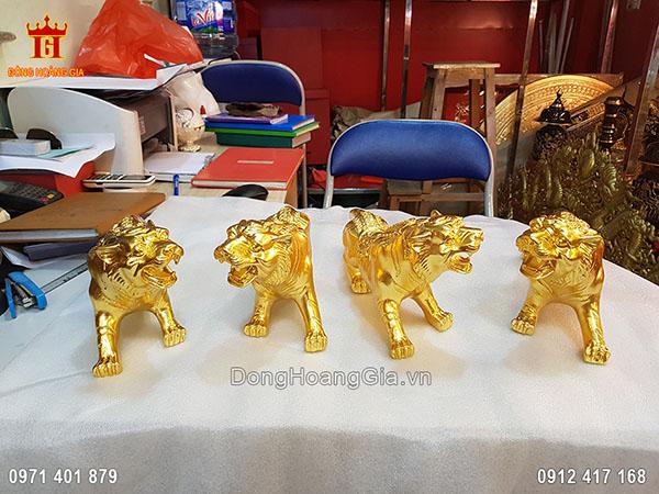 Tượng Đồng Linh Vật Hổ Dát Vàng 9999