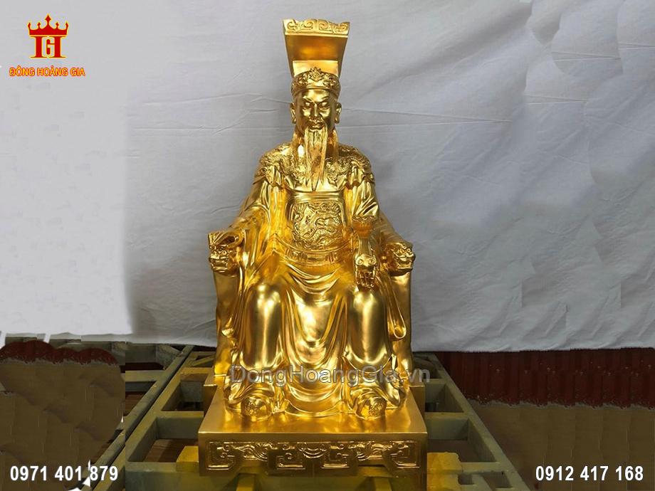 Tượng Đồng Ngọc Hoàng Thượng Đế Dát Vàng 9999 60Cm
