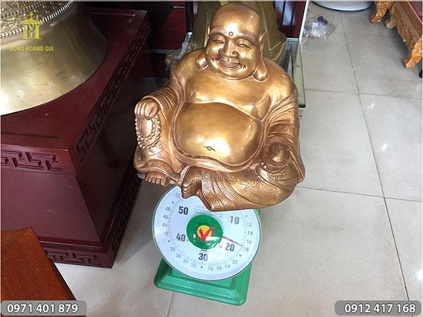 Tượng đồng Phật Di Lặc kích thước 30cm