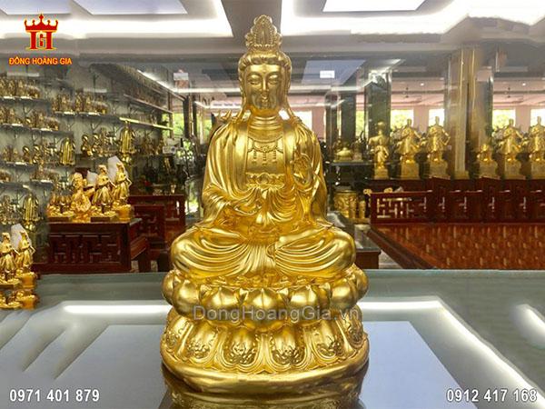 Tượng đồng Phật Thích Ca dát vàng 9999
