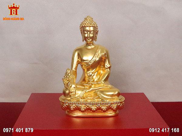 Tượng đồng Phật Thích Ca Mâu Ni dát vàng 9999