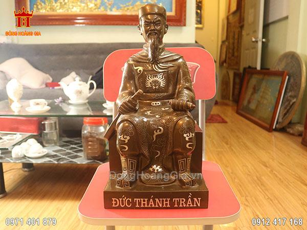 Tượng đồng Trần Hưng Đạo ngồi cao 42cm