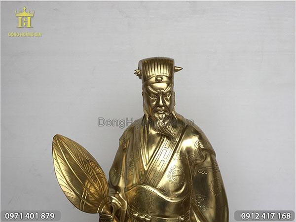 Tượng Khổng Minh bằng đồng Katut 70cm