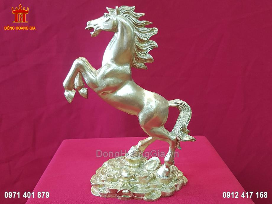 Tượng Ngựa phong thủy bằng đồng vàng cao cấp