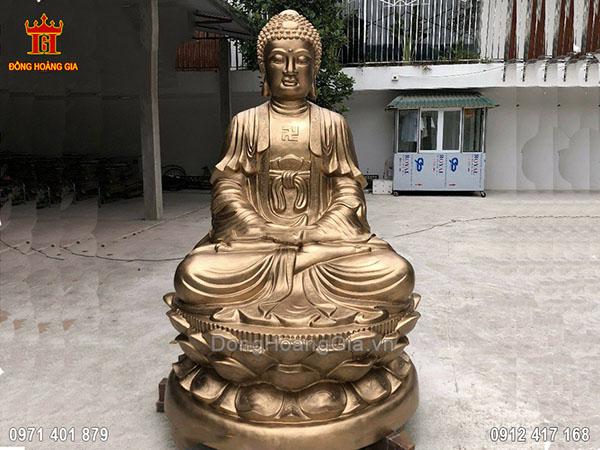 Tượng Phật ADIDA đồng đỏ cao 2M