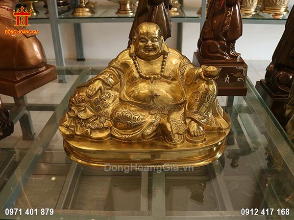 Tượng Phật Di Lặc, Phật Cười đồng vàng Cát tút