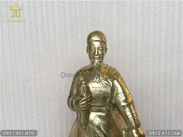 Tượng Trần Quốc Tuấn đồng vàng cao 50cm